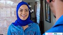 Petite slut arab fucked by two big men