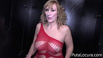 Again mom, now she gets into a Spanish Glory Hole, Victoria Vera