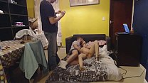 SexiGrajka cuckold with stranger finished by cr...