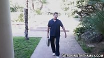 Teen skank rides stepdad