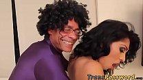 Big ass shemale Jade Miranda is ready for horny super Ramon