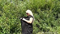 Blonde goth babes bbw flashing and outdoor exhibitionism of naughty Eden in a pu