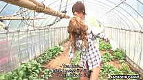 Asian farm babe getting fucked and creamed in the garden Preview