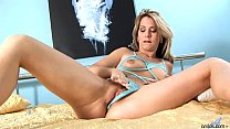 Anilos Janine fucks herself with a glass toy