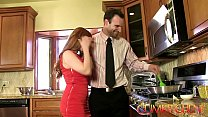 CUM KITCHEN: Redhead Penny Pax gets fucked with...