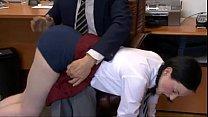 Schoolgirl Spanked by Headmaster's Thumb