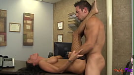 Gorgeous MILF babe banged in the office