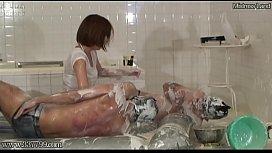 Japanese Femdom Underwater Breath Holding Game