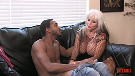 MILF Jacks off amateur BBC at the porn tryouts massive CUM SHOT  Sally D'_angelo