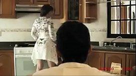 Latina Sexy mom gives son breakfast sex 9 min