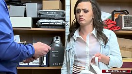 Teen babe analed by officer for stealing