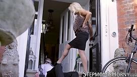 UK blond Rebecca Jane Smyth ass banging stepson
