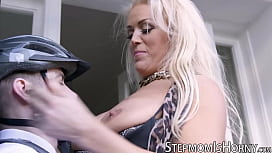 UK blond Rebecca Jane Smyth ass banging stepson