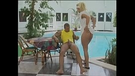Sexy nurse banged from behind in a pool
