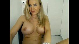 Busty milf fingering wet pussy