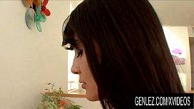 GenLez - Hot Brunettes Celeste Star and Sophia Jade Trade Oral Sex