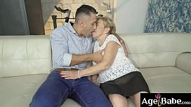Malya, a naughty granny tells Mugur to   work on the raise she is going to give him
