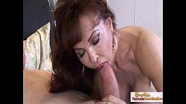 Super hot mature redhead handles cock like a pro