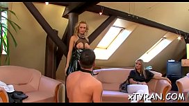 Hardcore femdom fetish with dude'_s a-hole spanked and toyed