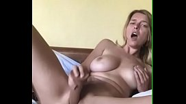 Hot Blond Aussie Chick Pleasures Herself With Sex Toys