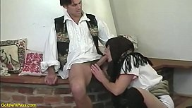 hairy 81 years old peasant brutal fucked