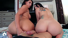OOPS! I Creampied my big Booty Step Sisters! MANDY MUSE & VALENTINA JEWELS