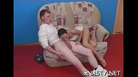 Savory teen chick Agata seems to be a slut with such a blowjob