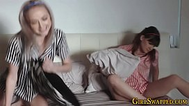 Teen stepdaughters ride