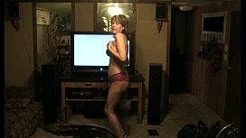 Hot Amatuer Mature MILF Wife Dancing