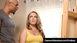 BBC Fucked Carmen Valentina Banged By By A Big Black Cock!