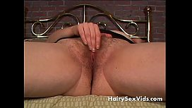 Blonde chunky MILF with big hairy pussy