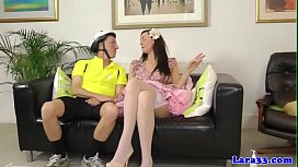UK milf jizzed on while ass fingered