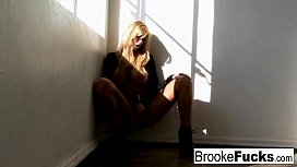 Naughty Brooke Exposes Herself In front Of A Window
