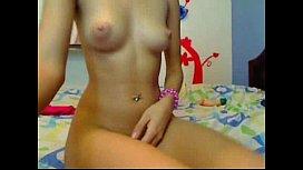 Stunning teen brunette camgirl at www.kikme.biz