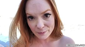Ginger head stepmom with big tits loving stepsons rod inside!