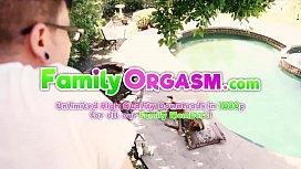 Step Sister Bree Mitchells Taking Sun in Pool - FamilyOrgasm.com