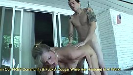 Horny Cougar Becca Blossoms Services A Young Mans Dick