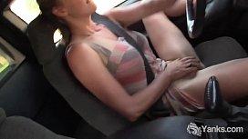 Yanks Hottie Aden Rose Masturbates In The Car