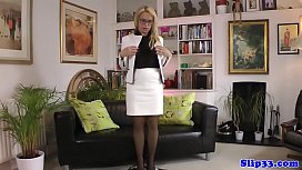 Spex beauty gets POV screwed by old mans cock