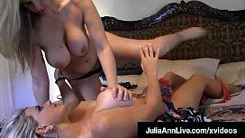 Busty Blonde Bombshells Julia Ann &amp_ Vicky Vette Tongue Fuck!
