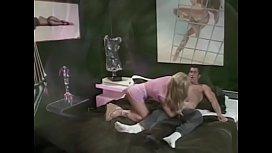 Blond slut Bridgette Kerkove getting her asshole fucked