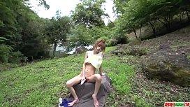 Mikuru Shiina back yard fantasy Japanese porn - More at Japanesemamas com