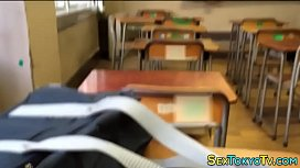 Asian rubs in classroom