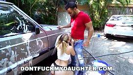 DON'_T FUCK MY d. - Naughty Teen Sierra Nicole Fucks Carwash Man