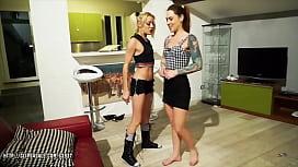 April Paisley and Foxy Sanie  Foot Gag Puke Humiliation
