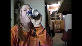 Ashley drinks piss and gets assfucked