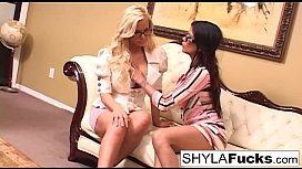 Busty Shyla and Alexis Amore Enjoy Sex