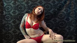 Cover me with cum and lick my body clean CEI