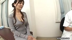 Kinky doctor drills hairy Japanese babe after a regular checkup