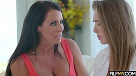 Stepmother helps her daughter how to fuck